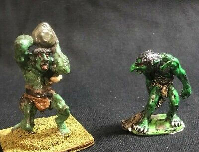 Classic Ral Partha Trolls X 2, Metal, Badly Painted. Sold As Seen In Pics. • 4.20£