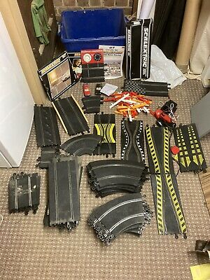 Massive Used Scalextric Bundle Set Track Pieces/ Set Up (job Lot) • 100£