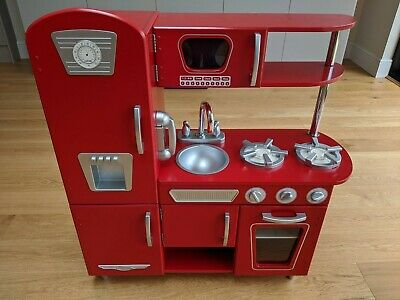 KidKraft Red Wooden Vintage Toy Kitchen • 15£
