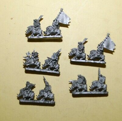 Warmaster- Orcs And Goblins - 5x Orc Boar Boys #A • 13.95£