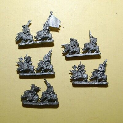 Warmaster- Orcs And Goblins - 5x Orc Boar Boys #B • 13.95£