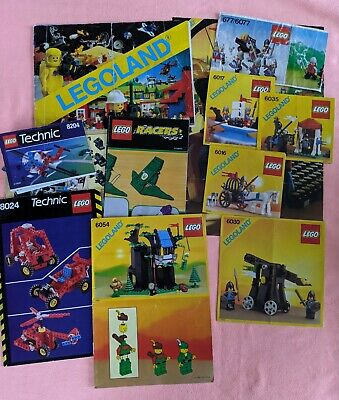 Vintage Lego Instructions Only Knights, Robin Hood , Technic And A Racer • 3.31£