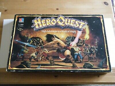 HEROQUEST Board Game - COMPLETE. Vintage And Good Condition. MB 1989 • 40£