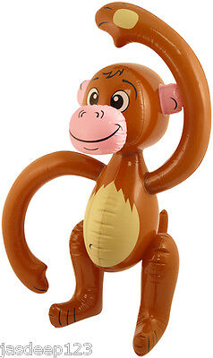 58cm Inflatable Monkey Novelty Outdoor Toy Party Kids Chimp Beach Blow Up • 2.49£