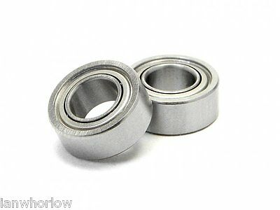 Bearings  2 Pcs  5 X 10 X 4 Mm, Metal Seal  , B021 • 3.50£