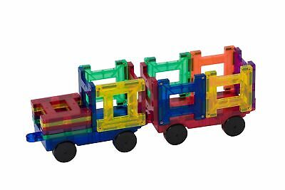 Playmags Clear Color 2 Piece Car Set - Compatible With All Magnetic Tiles • 11.99£