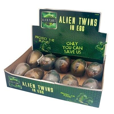 Alien Twins In An Egg Childrens Toy Rubber Putty Slime Party Bag Gift Fun Play • 4.34£