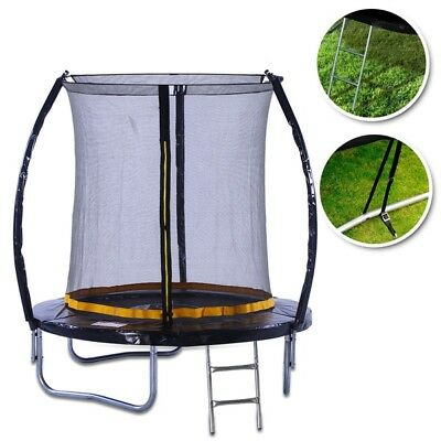 KANGA 6ft Outdoor Trampoline With Enclosure, Safety Net & Ladder Inc Warranty • 159£