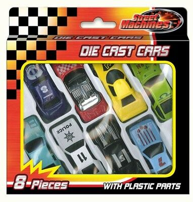 8 Pc Die Cast Racing Cars Vehicle Children Kids Boys Play Toy Christmas Gift Set • 2.99£