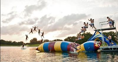 Water Bounce Inflatable Water Game Water Trampoline Sled Slide • 790£