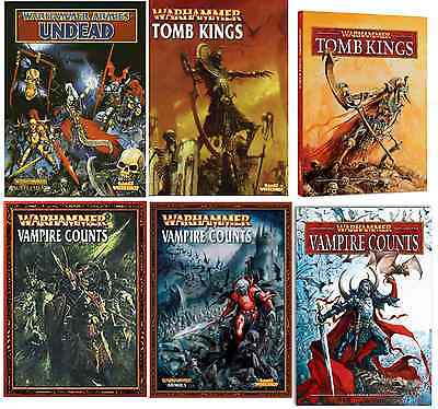Undead, Vampire & Tomb Kings Warhammer Army Books Various Editions Select • 26£