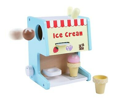 Childs Wooden Ice Cream Machine Counter Shop Stand Pretend Role Play Set Toy • 14.99£