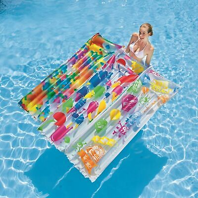 Bestway 72� X 27� Inflatable Swimming Beach Pool Lounger Air Mat Float • 7.99£