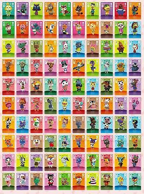 ANIMAL CROSSING AMIIBO SERIES 4 CARDS ALL CARDS 301 > 400 Nintendo Wii U Switch  • 12.50£
