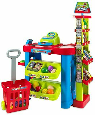 MEDca Creative Kids Supermarket Fun Time Playset |Shopping Cart Pretend Play Toy • 43.62£