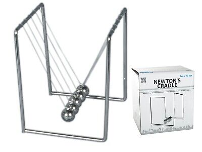 Newtons Cradle Large Exec Desktop Executive Toy Science Kinetic Gift Office Fun • 9.99£
