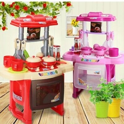Portable Electronic Children Kids Kitchen Cooking Girls Toy Cooker Play Set Gift • 14.99£
