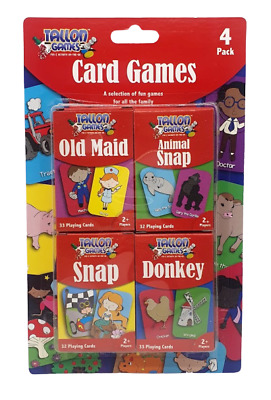 4 X Children's Playing Cards - Kids Games Playing Snap Donkey Family Fun  • 2.95£