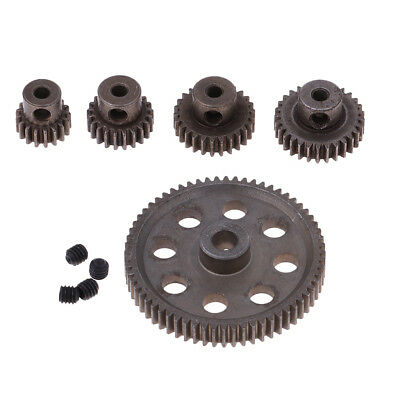 Metal Spur Differential Gear 64T Motor Pinion Cogs Set For HSP 1/10 RC Cars • 6.61£