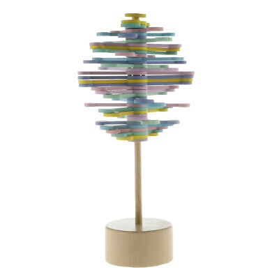 Colorful Wood Rotating Lollipop Stress Relief Sensory Relaxation Toy 21.5cm • 7.81£