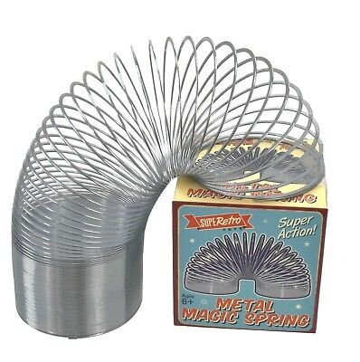 New 7cm Large Metal Spring Classic Retro Springy Slinky Toy Stocking Filler Gift • 6.99£