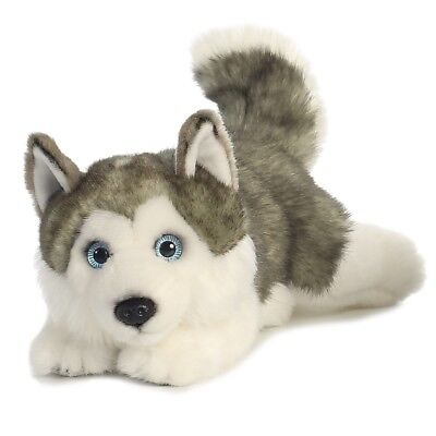 Husky Soft Teddy Bear Toy Aurora Miyoni Plush Cuddly Dog 11  Kids New • 12.99£