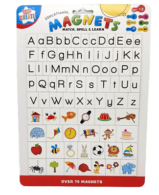 Kids Early Alphabet / Match Spell & Learning Magnets Pre School Educational • 2.74£