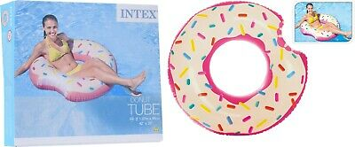 Intex Inflatable Giant Swim Ring Swimming Pool Beach Holiday Novelty Donut Float • 6.95£