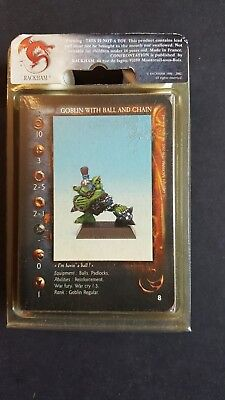 RACKHAM CONFRONTATION GOBLINS Wth BALL And CHAIN Metal Min X3SEALED OOP GPSP 01 • 10.99£