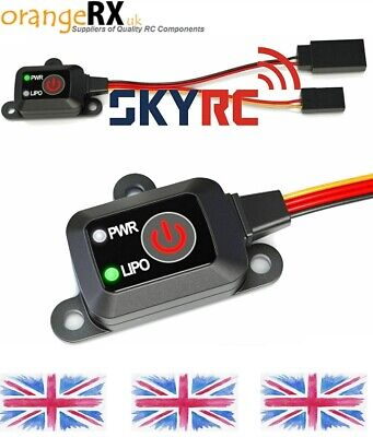 Nitro RC Car Electronic Push Button Switch & LiPo Cut Off - Sky RC - OrangeRX-UK • 14.99£