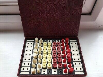 Vintage House Martin Travelling Chess & Drafts • 12.89£