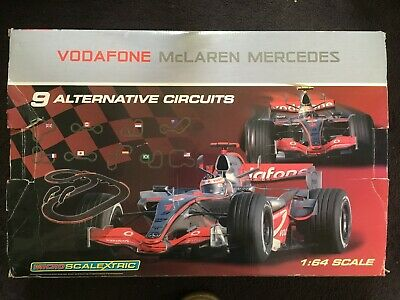 Micro Scalextric 1:64 Scale Official Licensed Vodafone Mclaren Mercedes Set • 25£