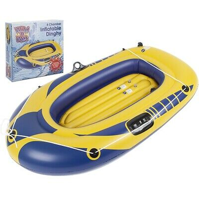 Inflatable Yellow Dinghy 45  Junior 54  & 74  Sizes Childrens Adult Holiday Boat • 25.99£