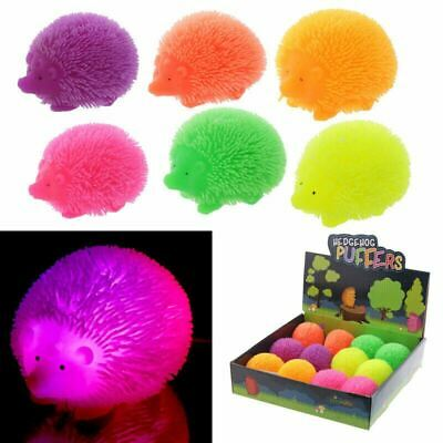 LED Flashing Squishy Hedgehog Puff Pet Stress Relief Toy Party Bag Filler • 6.60£