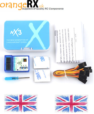 NX3 3-Axis Gyro Flight Controller Gyroscope Balance Fixed-wing Aircraft RC Plane • 23.99£
