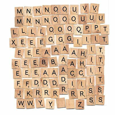 Individual Tiles Letters Numbers Wooden Scrabble For Craft Alphabet Game Wood UK • 0.99£
