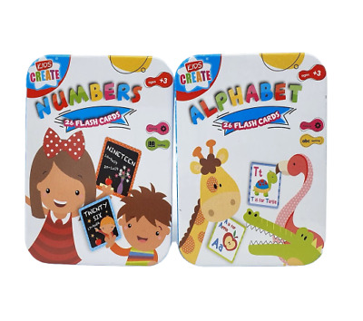 Children's Flash Cards Kids Educational Pre School Alphabet / Numbers Learning • 2.99£