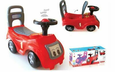 Dolu Ride  On Car Vehicle Toy Push Along Sit & With Storage Under The Seat - Red • 14.99£