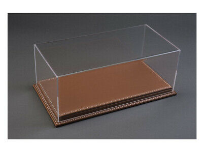 Luxury Brown Leather Stitched Base Display Case ATL10071 • 54.99£