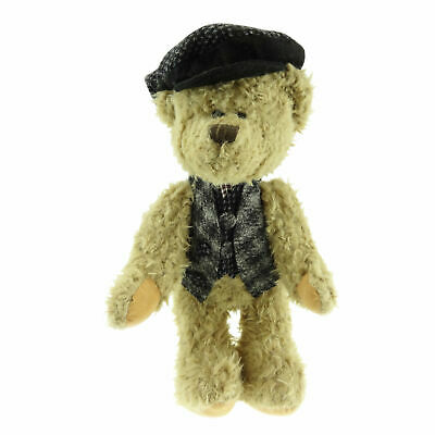 Traditional Scruffy Teddy Bear 100% Authentic Harris Tweed Waistcoat & Cap • 28.50£