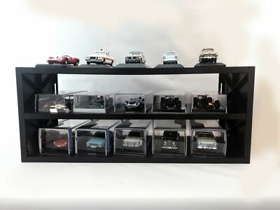 DISPLAY SHELVES BL61 BL66 LMG1 BLACK / WHITE / RED Suitable For 15 X 1:43rd Cars • 14.25£