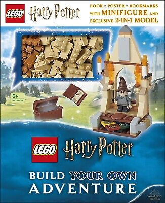 Harry Potter Lego Minifigure EXCLUSIVE 2 In 1 Build Bricks Model With Book - NEW • 11.99£
