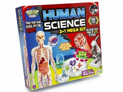 Childrens Human Science 2 In 1 Mega Kit Experimental Educational Toy Make Organs • 8.99£