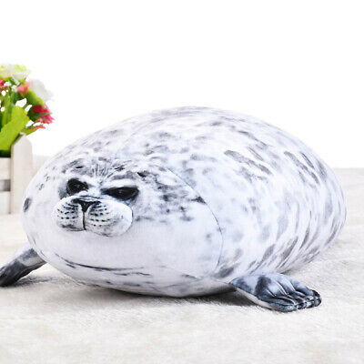 Chubby Blob Seal Plush Animal Toy Cute Ocean Pillow Pet Stuffed Doll Kids Gift • 9.10£