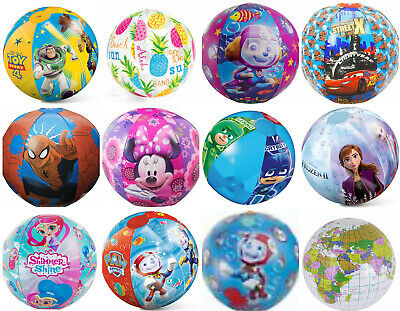 Disney Frozen, Car, Paw Patrol, Minions, Kids Girls Boys Inflatable Beach Ball  • 3.49£