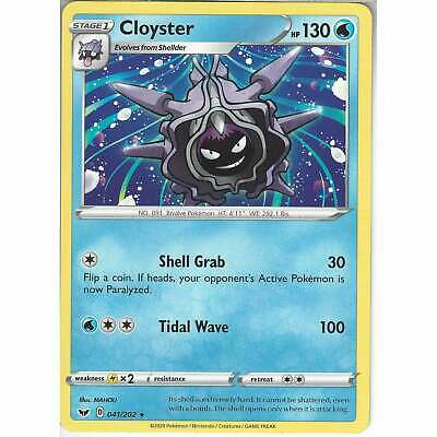 041/202 Cloyster | Rare Card | Pokemon TCG Sword And Shield (Base Set) S&S • 0.99£