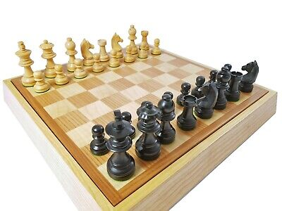 Chessboard IN Wood Dal Negro 31X31 Cm.art. 803067 C/X And Domino Cards Poker • 114.96£