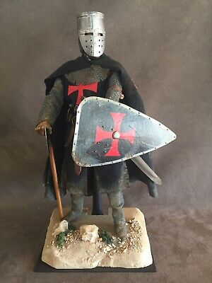 "Custom 12"" Crusader Knights Templar Figure 1/6 Scale.  • 80£"