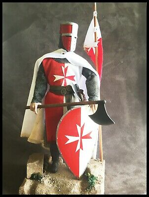 "Custom 12"" Crusader Knight, Order Of Mount Joy 1/6 Figure. • 80£"