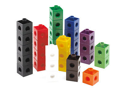 100 Snap Cubes/Unifix Linking Cubes Interlocking Learning Resource Maths  • 11.95£
